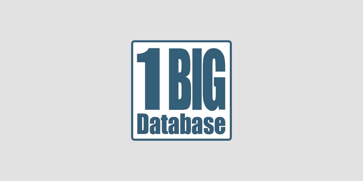 1 Big Database gets One Big Upgrade
